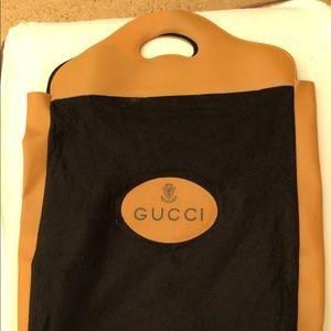 Vintage Gucci Felt Shopper Tote